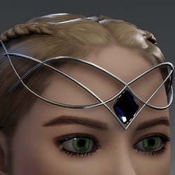 Dark indigo Circlet