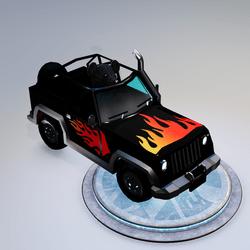 Black teddy Car