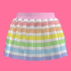 Pastel Rainbow Skirt (Cotton Candy Dreams)
