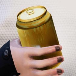Bottle gold in arm