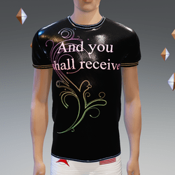 And you shall receive Black Glow-Animated Athletic Shirt - Male