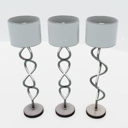 Helix Floor Lamp Silver