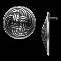 Celtic Disk Earrings - Silver