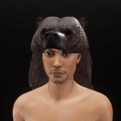 Bear head hat