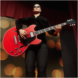 Jazz/Blues Guitar Red (Wearable)