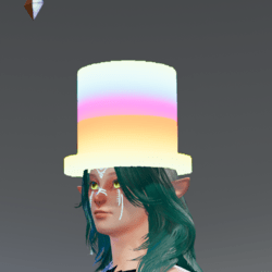 Free glowing rave Tophat