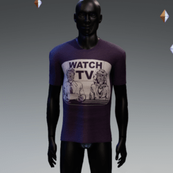 They Live On TV T-Shirt Purple