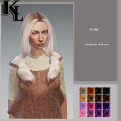 kátia -blonde base -dark roots