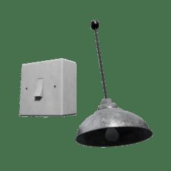 Metal roof Lamp w/switch [BUNDLE]