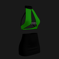 Leera Clubbing Outfit (Green/Black)