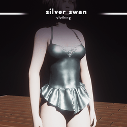 Silver Swan Dress