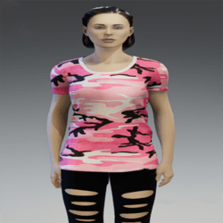 Camouflage T-Shirt Short Sleeves