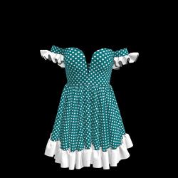 Baby Doll Vintage Polka Dot Dress 02