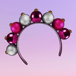 Ornaments Headband Pink Silver
