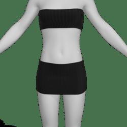 Black Top N Skirt