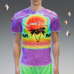 Purple California Dream Pocket T-Shirt - Male
