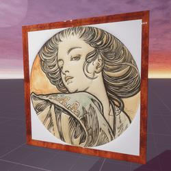 Portrait of a Young Woman Alphonse Mucha1