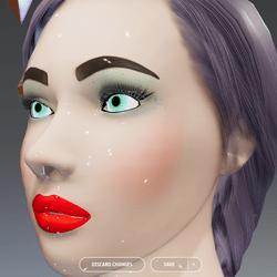 X - Alina - Glossy Glowing Eyes Avatar
