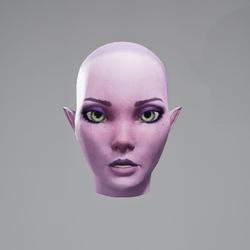 Vinx's Head Neutral (Eyes Green)