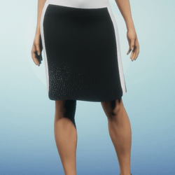 Black and White Leather Pencil Skirt