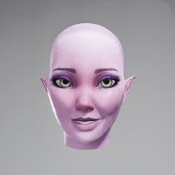 Vinx's Head Smile (Eyes Green)