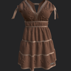 DROMA DRESS BROWN