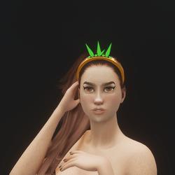 Mermaid Crystal Tiara 06 (Glowing)