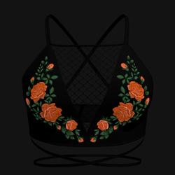 Taradelle Rose Blouse (Orange)