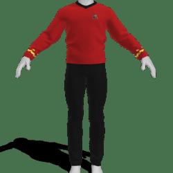 AV2 - Vintage Star Trek Suit Red
