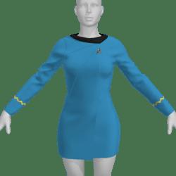 AV2 -Vintage Star Trek Dress Replica