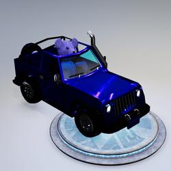 Blue Teddy Car