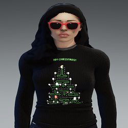 [INTOXICATED[ Unisex Merry Christmas  Pac mon tree