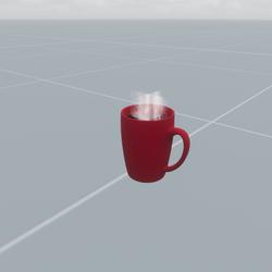 Mug of Black Coffee With Animated Steam