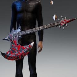 BLOODY Battle axe guitar