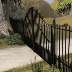 Wrought Iron Fence Set   Animated