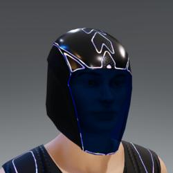 GARY UNISEX  HELMET GLASS EMISSIVE ANIMATED BLACK blue