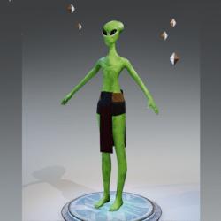 Green Reptile Alien