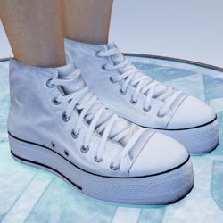 (Female) Clean White Baseball Shoes