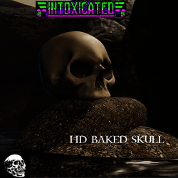 Realistic skull HD Baked textures