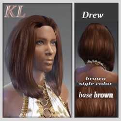 Drew base brown -you can change this color base (update)