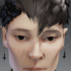 Male Gothic Earring Pair