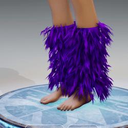 GoGo Dancer Furry Legwarmers PURPLE