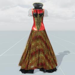 Queen Dress (Red Black)