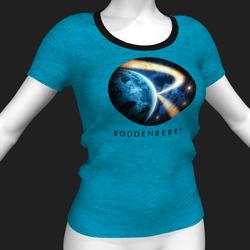 Star Trek Mission Log - Roddenberry T-Shirt - Blue - Female