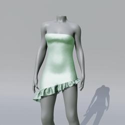 SUZY Mint Asymetrique Dress