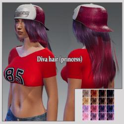 Diva hair (princess ) collorfull base!