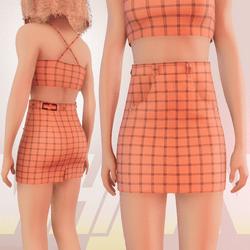 Orange Iconic Skirt