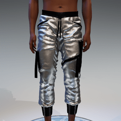 Cargo Pants for male in silver & black