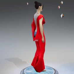 Elegant Extremely Low Back Dress RED