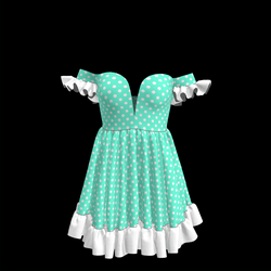 Baby Doll Vintage Polka Dot Dress 07